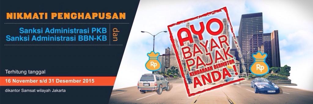 Penghapusan Sanksi Pajak Kendaraan dari tanggal 16 November s/d 31 Desember 2015