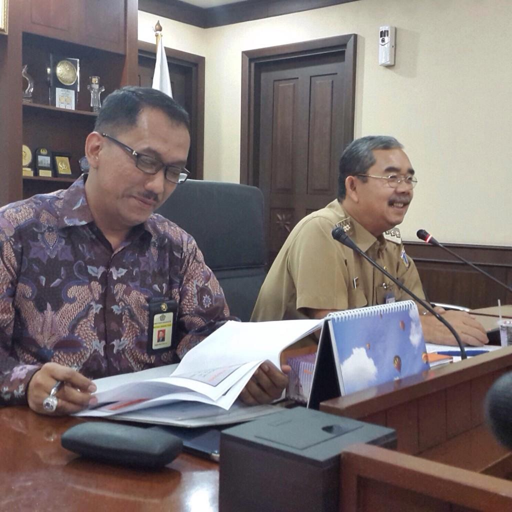 Walikota Jakarta Pusat dan Kanwil DJP