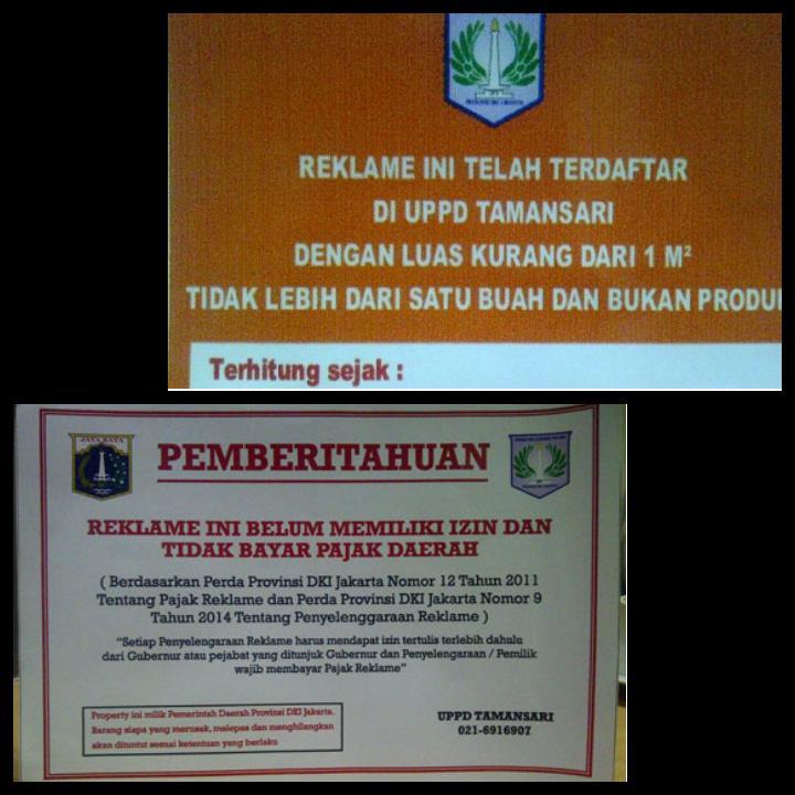 Upaya UPPD Tamansari Mendata Reklame di Lapangan