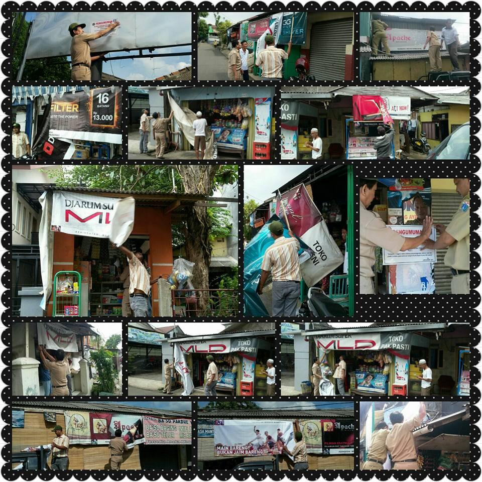Rangkaian Penertiban Reklame UPPD Kramat Jati