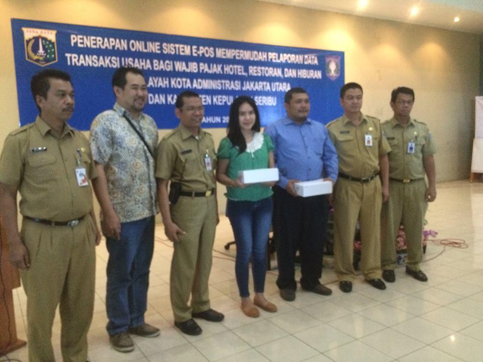 Pembagian Alat e-POS di Jakarta Utara dan Sosialisasi