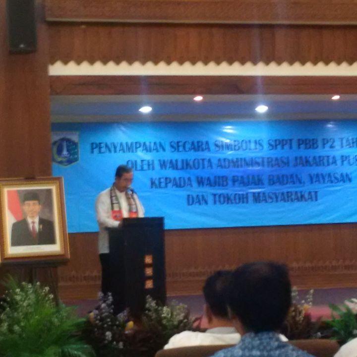 Walikota Jakarta Pusat Mangara Pardede memberikan arahan