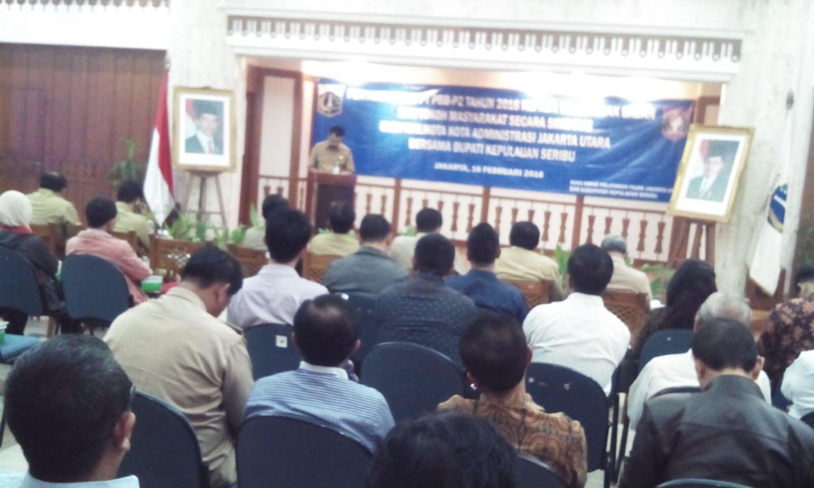 Kasudin Pelayanan Pajak Jakarta Utara Selkiansyah memberikan sambutan