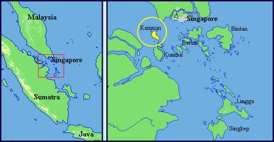 Letak Kabupaten Karimun berdekatan dengan Singapura