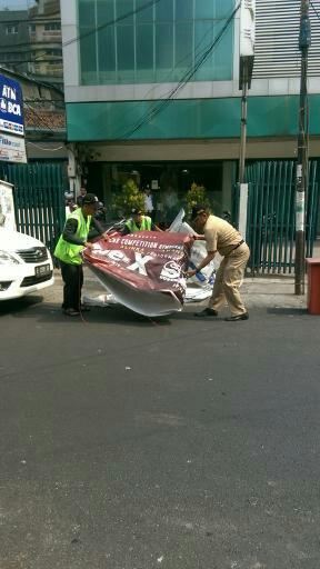 Penertiban Reklame Liar UPPD Tamansari