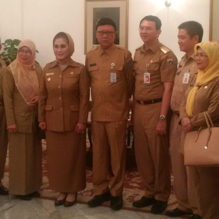 Gubernur Jakarta Menerima Walikota Tegal