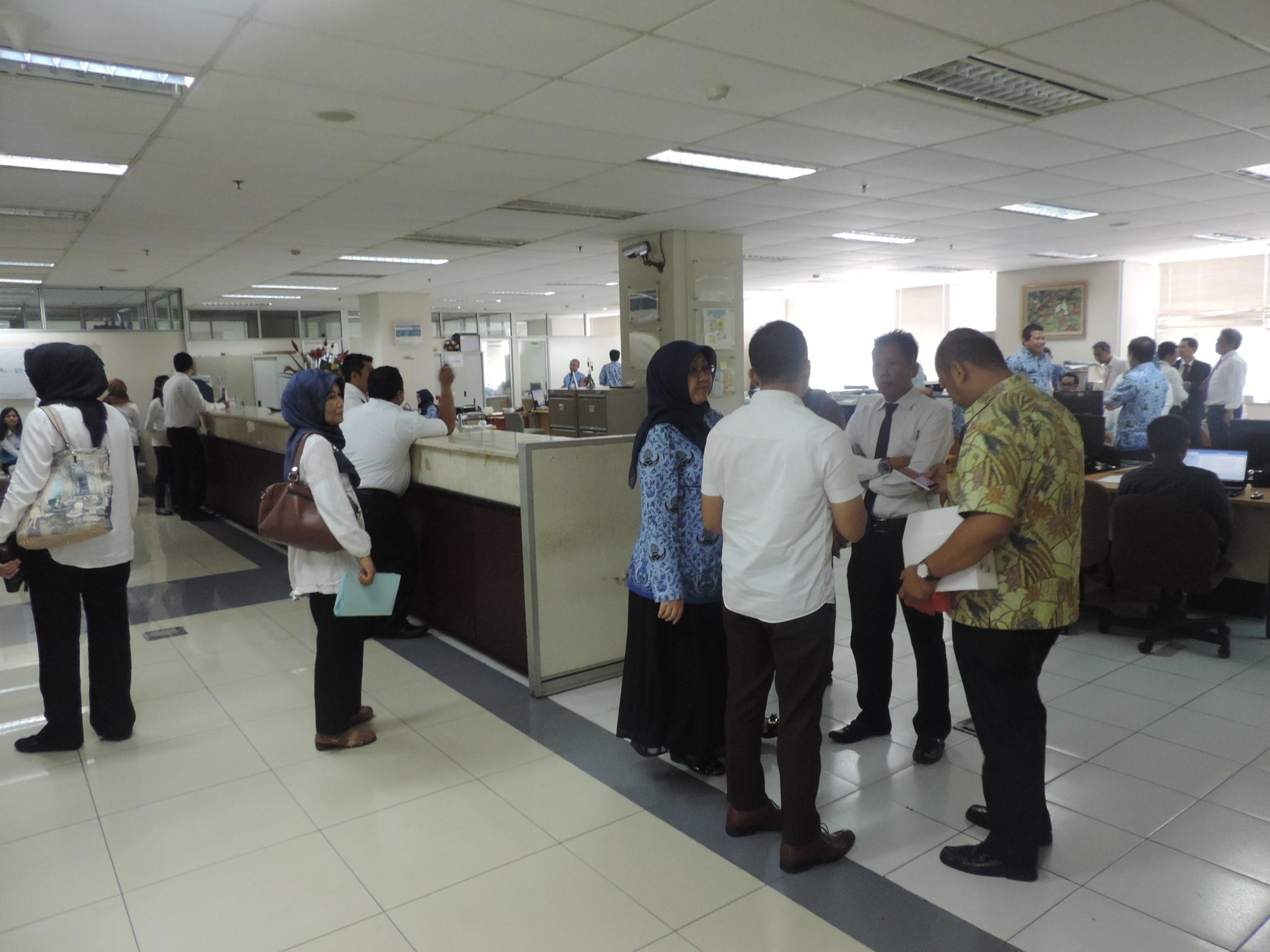 Peserta OL Diklat Pajak Semarang melakukan observasi di Bidang Teknologi Informasi DPP
