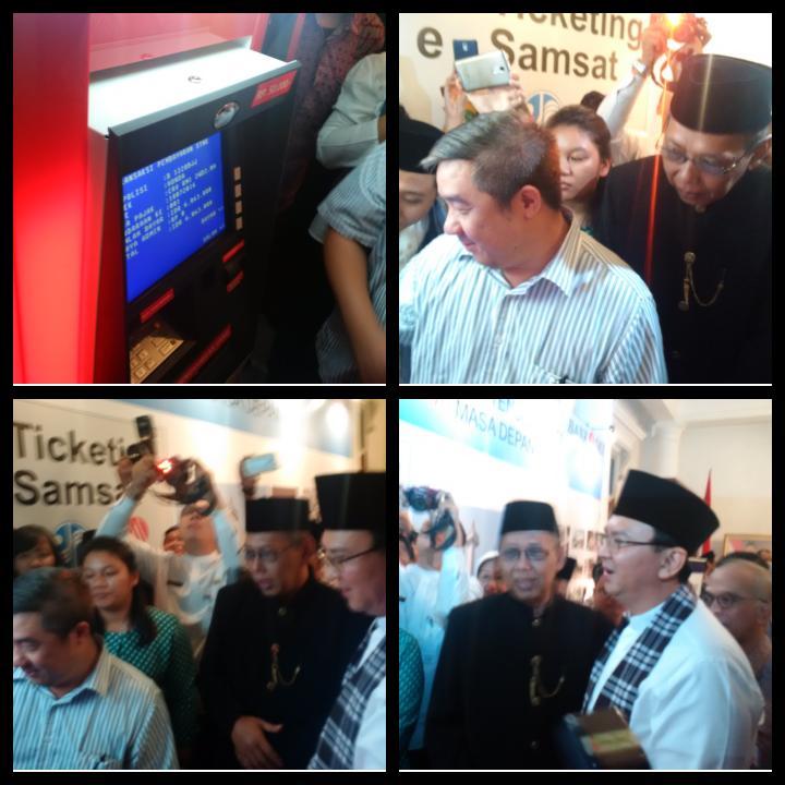 Proses pembayaran <em>e-samsat</em> di ATM Bank DKI