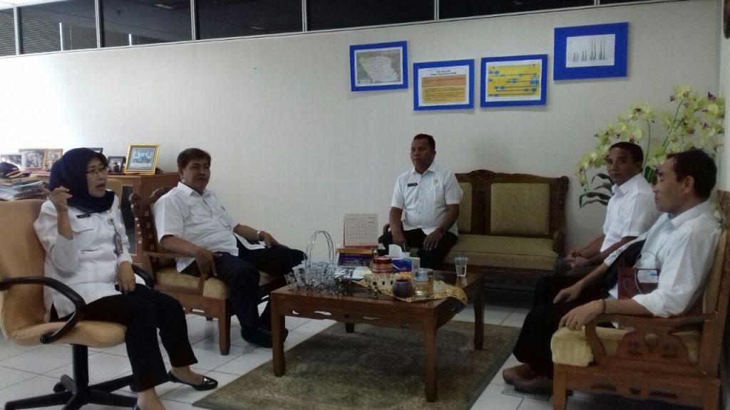 Camat Moti Ternate diterima Ibu Nur Ahdiyani Kepala UPPD Gambir