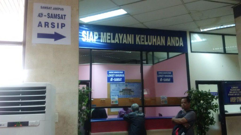 Loket e-samsat Jakarta Pusat
