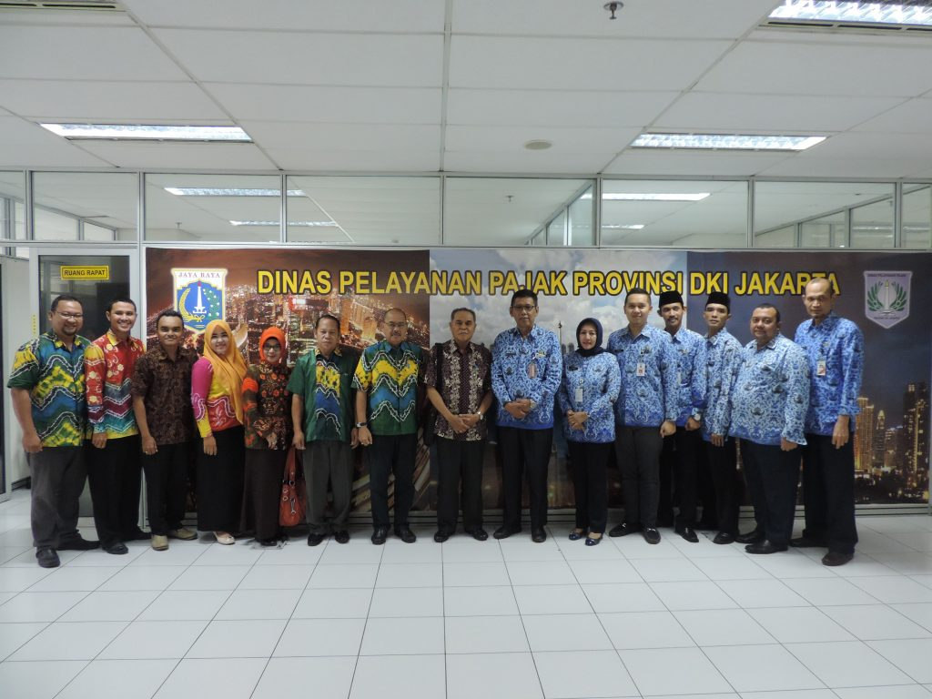 Rombongan Dispenda Kota Banjarbaru dan jajaran DPP DKI