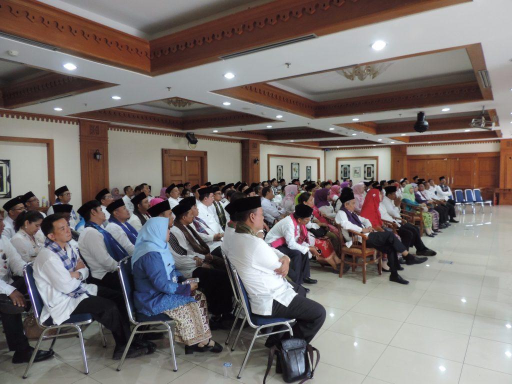 Para Pejabat BPRD diberikan pengarahan pada pelantikan 3 Januari 2017