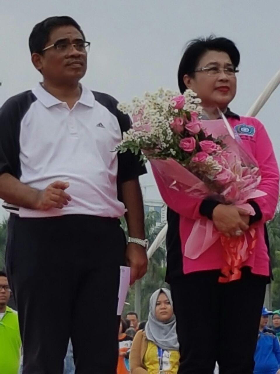 Senam Bersama dan Perpisahan Plt. Gubernur Jakarta