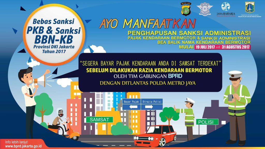 Samsat Jakarta Bebaskan Denda Pajak Kendaraan 19 Juli - 31 Agustus 2017
