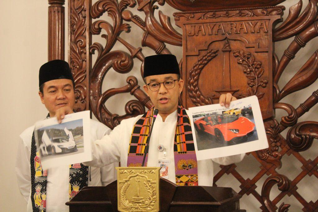 Gubernur dan BPRD DKI Jakarta Umumkan Nopol Penunggak Pajak Kendaraan Mewah