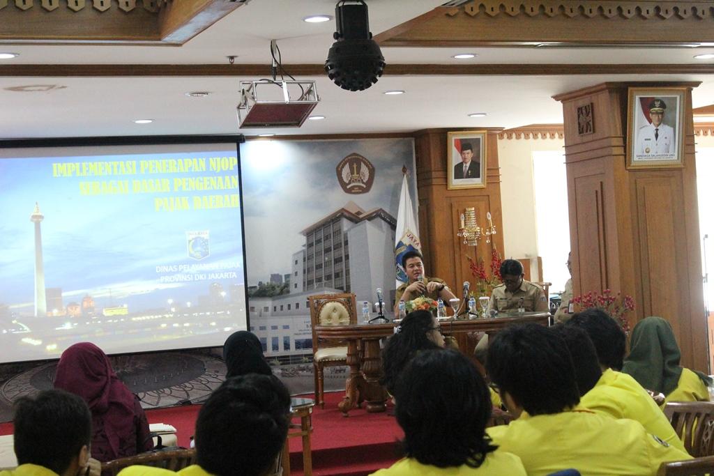 Mahasiswa Universitas Indonesia Kuliah Umum di BPRD DKI Jakarta