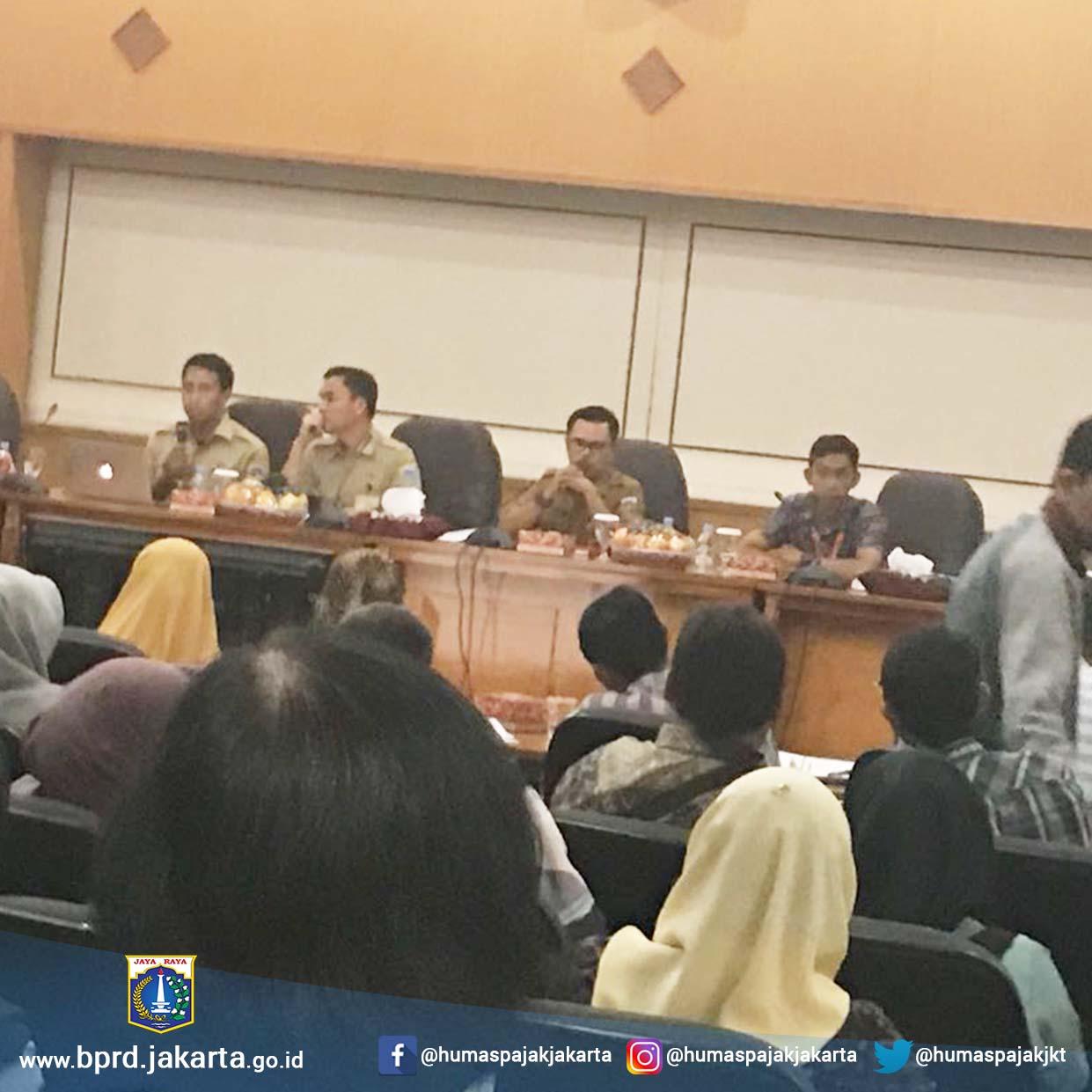Bimtek Pajak daerah Secara Online di Walikota Jakarta Timur