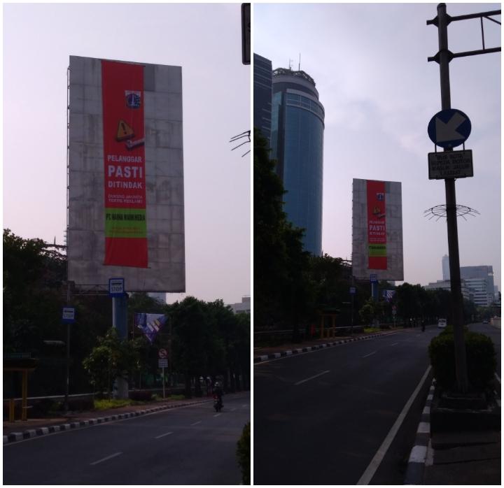 Tayangan Reklame Di Depan Gedung Allianz Jl. H.R. Rasuna Said Jakarta Selatan Sudah Ditertibkan