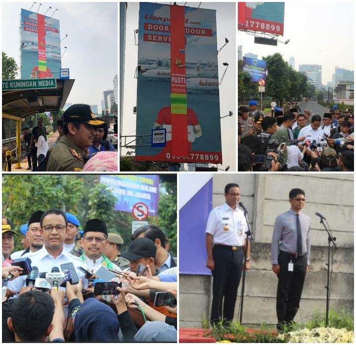Penertiban Reklame Di Jl. H.R. Rasuna Said Jakarta Selatan.