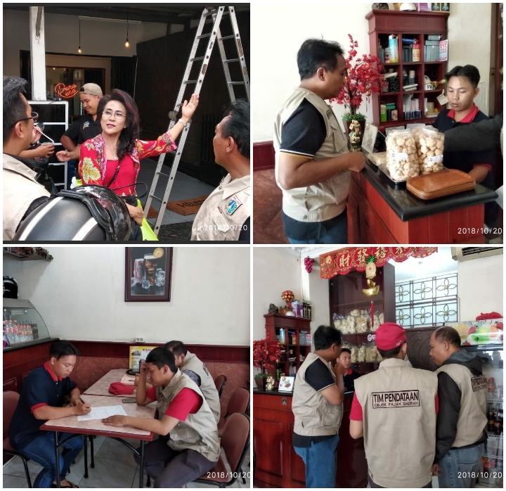 Pendataan Objek Pajak Restoran di Kecamatan Grogol Petamburan.