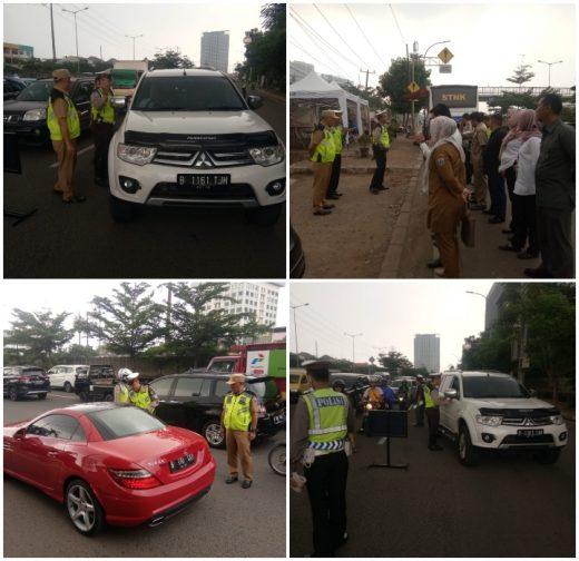 Samsat Jakarta Barat Melakukan Razia Kendaraan Bermotor Hari Ke-4 di Jl. Lingkar Luar Puri Kembangan