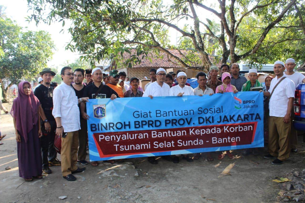 BPRD Jakarta Salurkan Bantuan Korban Tsunami Banten