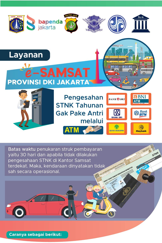 Layanan e-Samsat DKI Jakarta melalui ATM