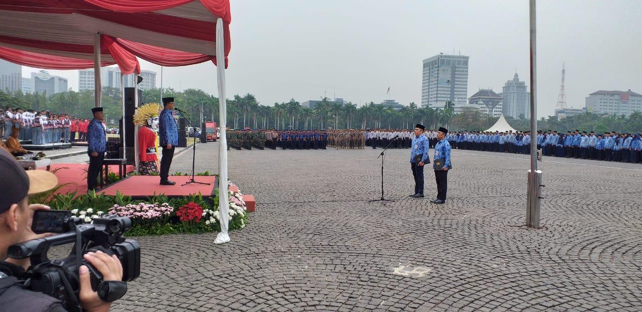BPRD Jakarta Jadi Petugas Upacara Hari Peringatan Ikada ke-74 di Monas