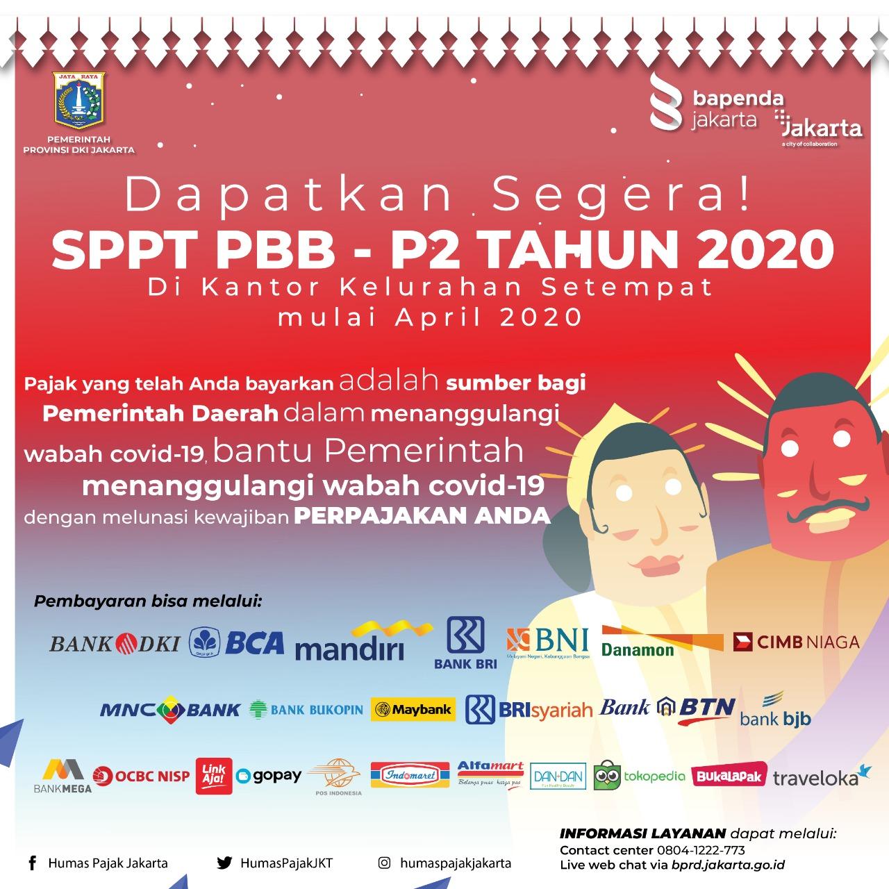 Dapatkan SPPT PBB-P2 Tahun 2020