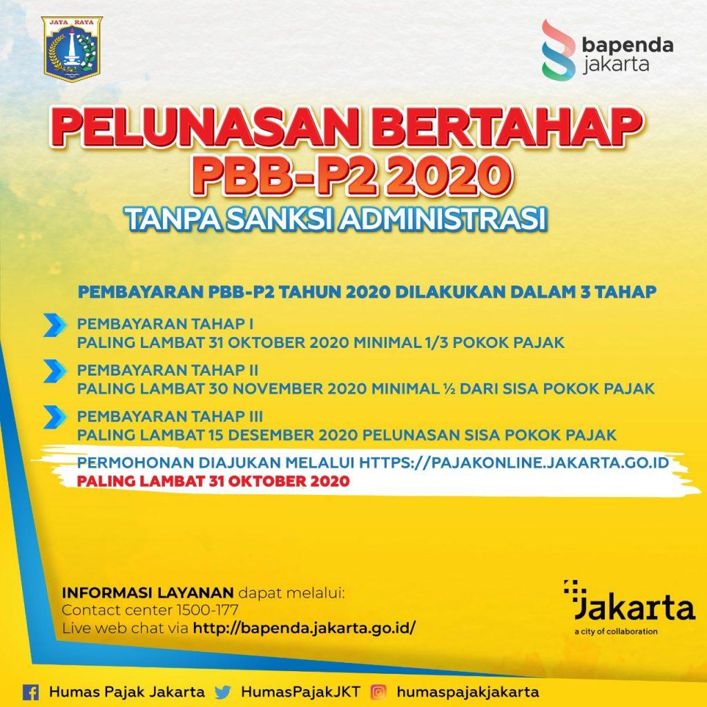 Permohonan Pelunasan Bertahap Melalui  Website : pajakonline.jakarta.go.id