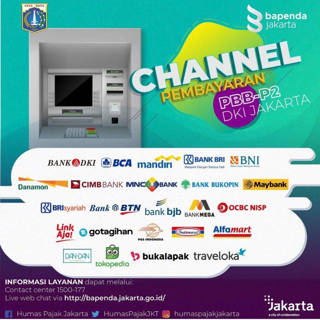 Channel Pembayaran PBB-P2 DKI Jakarta 2020
